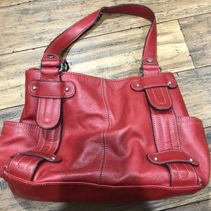 Real leather Tignanello bag